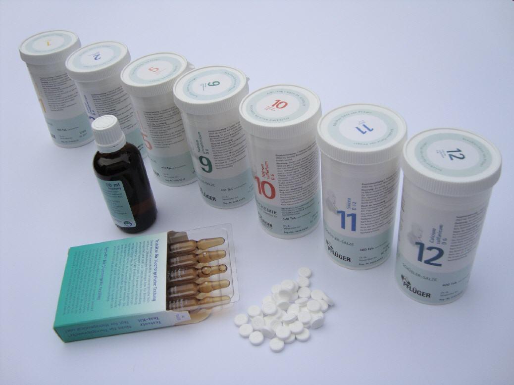 homoopathie und schussler salze